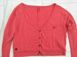 Espirit crop top jacket coral red