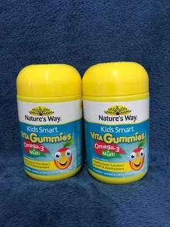 Nature's Way Kids Smart Vita Gummies Multi + Omega 50 Pastilles