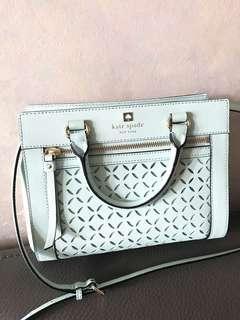 🈹New Kate Spade leather mint green shoulder bag hand bag 全新真皮薄荷綠手袋斜孭