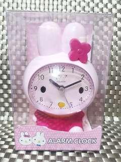 🚚 🐰粉紅可愛兔🐰靜音 ⏰鬧鐘 時鐘
