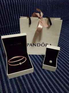 Pandora set bracelet and charm