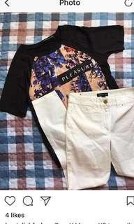 Zara top mango jeans