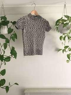 Turtle neck shirt sleeve jumper