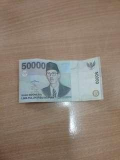 Uang kuno 50,000