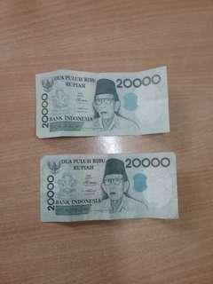 Uang kuno 20,000