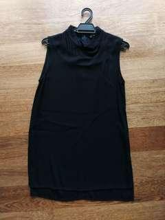 Preloved Zara Mock Neck Tunic in Black