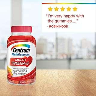 Centrum Multi+ Omega 3 100 Gummies