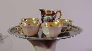 復古茶具銀盤 Vintage Silver Plate