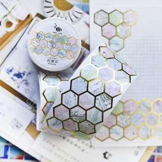 🚚 Honeycomb Marble Washi Tape