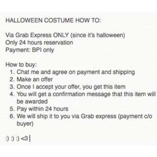 Halloween Costume How to Buy