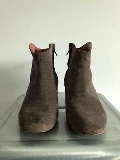Isabel Marant calf velvet leather dicker boots size 8
