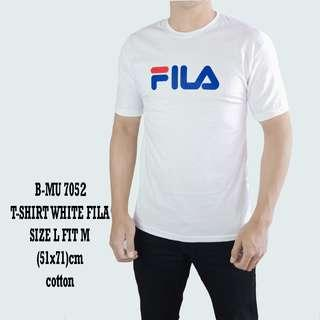 bajukecee - Tshirt White Fila 7052