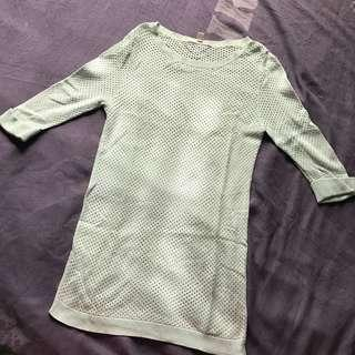 Knitted 3/4 Blouse (Mint Green)