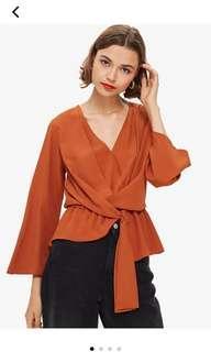 TOPSHOP knot blouse