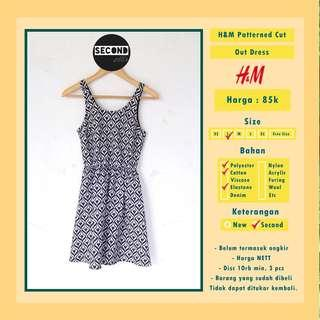 H&M Patterned Cut Out Dress