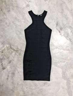 topshop | bodycon bandage dress in black