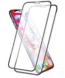 "2張 iPhone Xs 5.8吋 6D 曲面鑽石保護貼 防塵設計 黑色 全屏100% 覆蓋鋼化防爆玻璃保護貼 2 Packs 5.8"" 6D Curved 9H Hardness 100% Full coverage tempered glass Black Colour ( 包除塵淸㓗套裝 ) ( With Cleaning Set ) 2018"