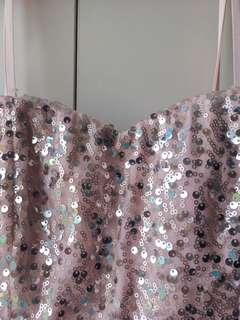 F21 Pink Sequined It Girl Dress