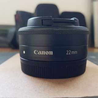 Canon 22mm EF-M prime lens