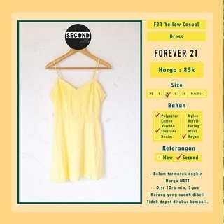 Forever 21 Yellow Casual Dress