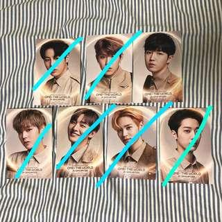 wanna one in sg mini posters
