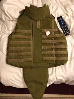 🚚 戰術防彈背心 高檔軍用軍規真品 CORDURA 護頸 護下盤 正貨