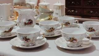 意大利馬車陶瓷杯套裝 Italian Carriage Porcelain Set