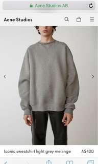 Acne Studio crew neck sweater in grey