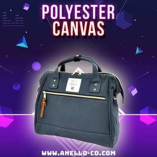 #POPULAR 【Anello Polyester Canvas 2-Way Sling Bag - Charcoal Gray】 AT-H0852 | 100% Authentic #anello #slingbag #shoulderbag #bostonbag