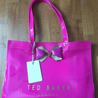 NEW Ted Baker Escon Bow Trim Shopper Bag Bright Pink