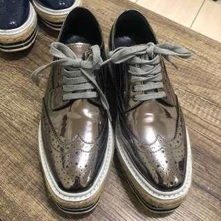 🚚 厚底牛津鞋 增高鞋 PRADA同款 牛津鞋