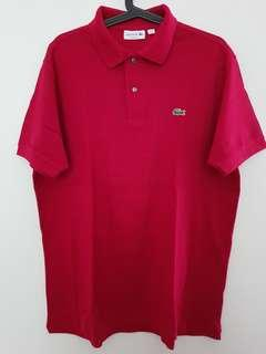 Lacoste Classic Polo Shirt 100% Original Warna Merah