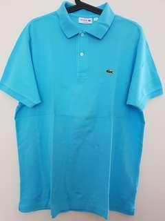 Lacoste Classic Polo Shirt 100% Original warna biru muda