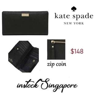 f9f3d35ab9a39 READY STOCK authentic new Kate Spade Laurel Way Stacy Wallet Black    WLRU2673