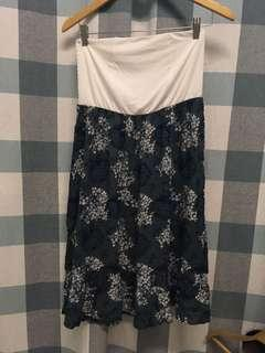 (NEW) Tube Fish Tail Grey Green Floral Dress