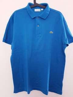 Lacoste Classic Polo Shirt 100% Original warna biru