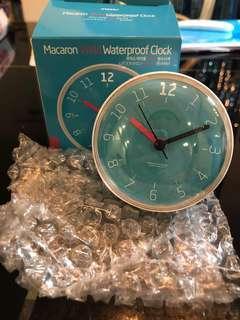 🚚 Macaron waterproof bathroom clock