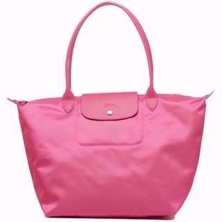 NEW Longchamp Women's 1899 Le Pliage Neo Large Long Handle Shoulder Tote Bag (Pink)