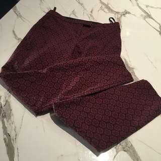 Red & Black Cigarette Trousers