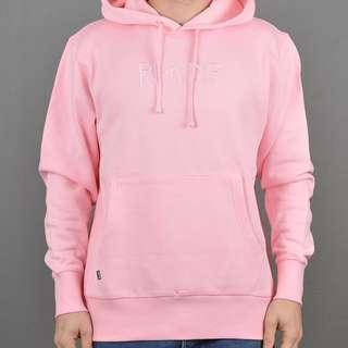 RIPNDIP PINK PULLOVER 賤貓粉紅色長袖有帽衞衣 Size S=SupremeM, 100% NEW