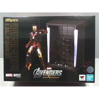 全新 S.H.Figuarts SHF AVENGERS 復仇者聯盟 鋼鐵奇俠 Iron Man MARK VII Mk 7 & Hall Of Armor Set IRONMAN