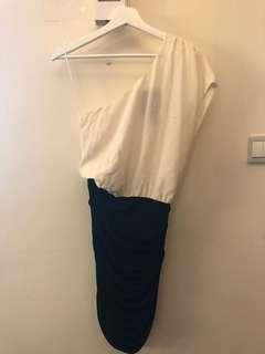 Jay Ahr one shoulder dress