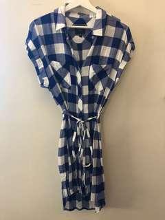 Rails 藍白格仔裙