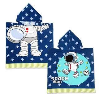 🚚 KOR119 Kids Bath Swim Towel Poncho Spaceman