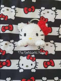 🚚 Hello Kitty Dots and Stripes Bagcharm / Keychain
