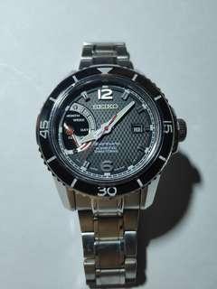 Seiko sportura kinetic Black SRG019 P1 SRG017 power reserve luxury watch