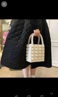 Inc pos pearl beaded bag