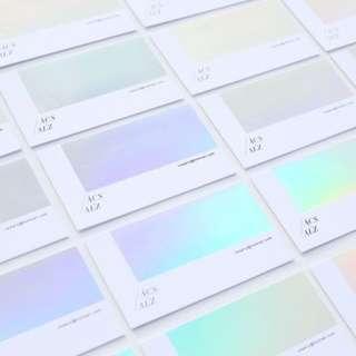 Holography Foil Shiny Card & Sticker Print