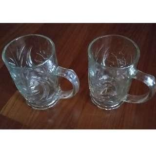2 pcs Glasses With Flower Design
