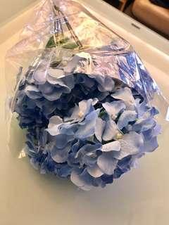 婚後物資  仿真花  淺藍色繡球花